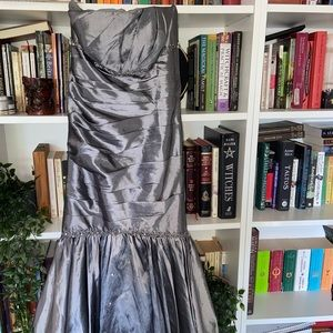 Silver/grey mermaid style gown